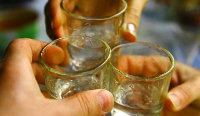Kieliszki z alkoholem