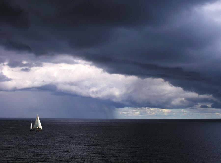 jezioro mazury burza