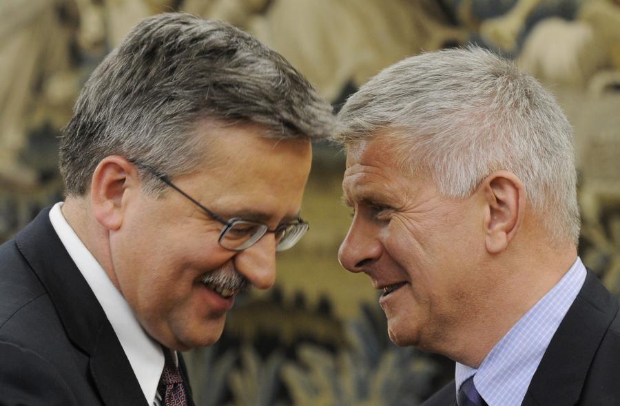 Marek Belka i prezydent Bronisław Komorowski