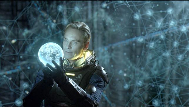 "Michael Fassbender w ""Prometeuszu"""