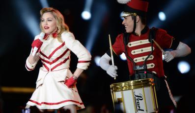 Madonna podczas koncertu w Wiedniu