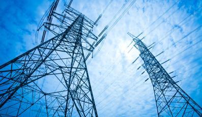 Wieża linii energetycznej wysokiego napięcia