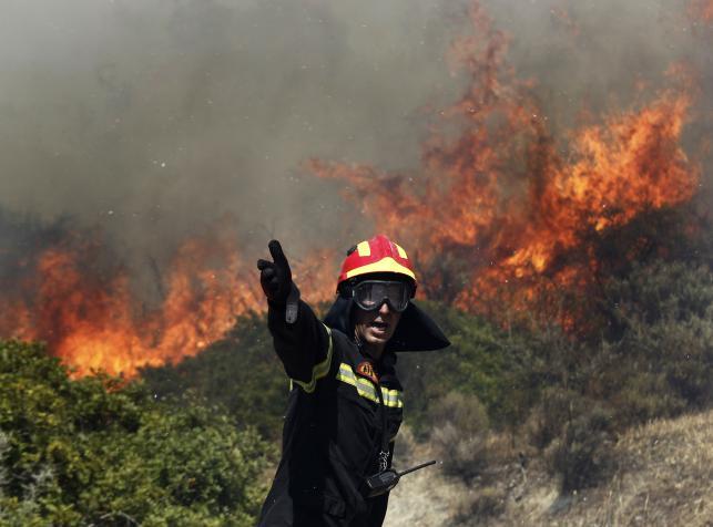 Pożary lasów w Grecji