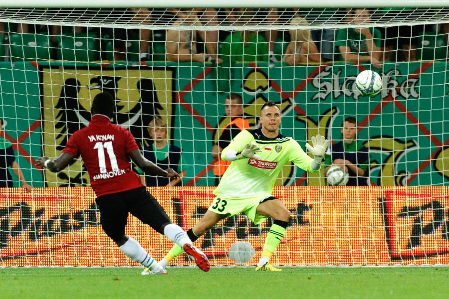 Śląsk przegrał z Hannoverem 3:5