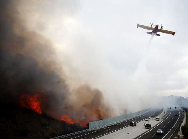 Wielkie pożary w Hiszpanii