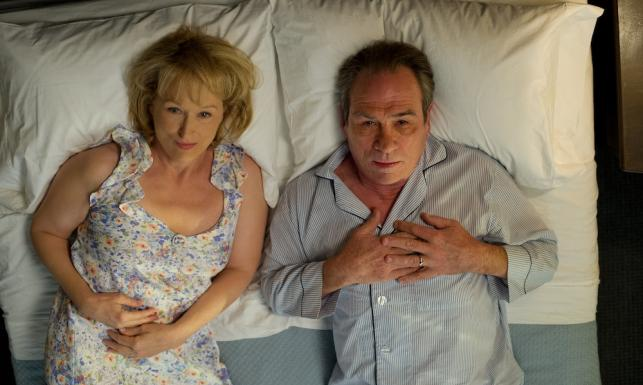 Meryl Streep i Tommy Lee Jones na kozetce, \