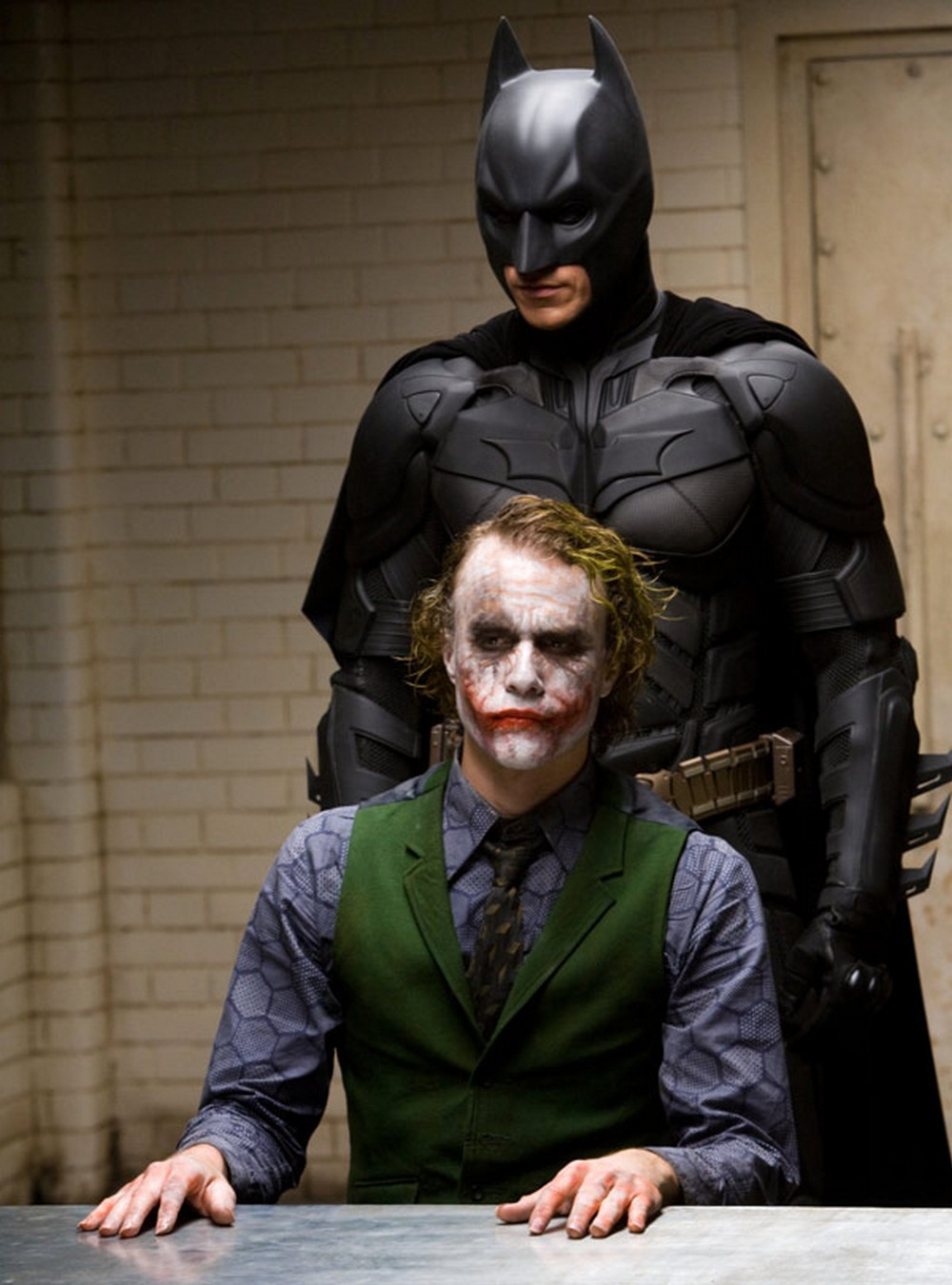 Christian Bale i Heath Ledger w \