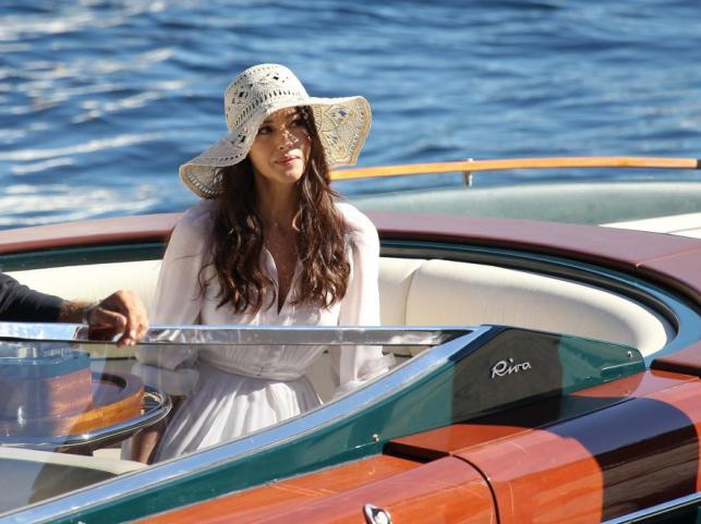 Monica Bellucci na planie filmu reklamowego Cisowianka Perlage fot. Jacopo Raule/Getty Images