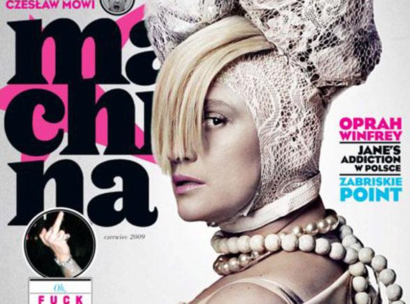 Sesja dla Machiny: Katarzyna Figura udaje martwą królową