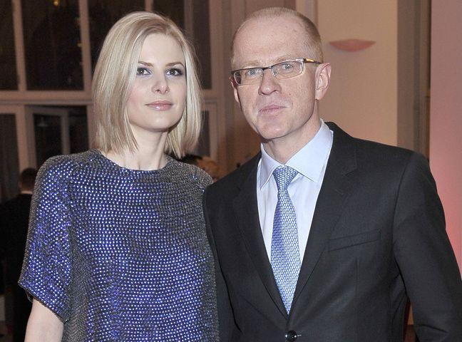 Ludwik Sobolewski ze swoją partnerką