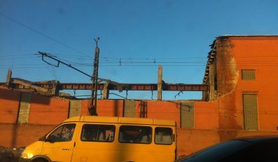 Zniszczona fabryka w Czelabińsku