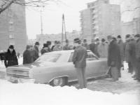 Giełda samochodowa przy ul. Dzikiej w Warszawie (przełom lat 60. i 70.)