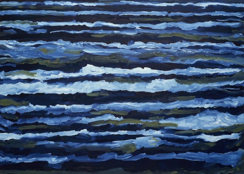 Dwurnik kontempluje morze