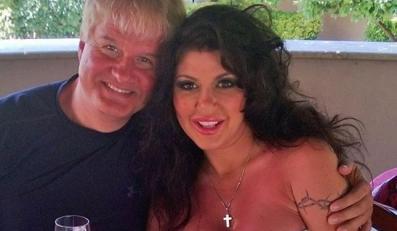Iwona Węgrowska z mężem na wakacjach