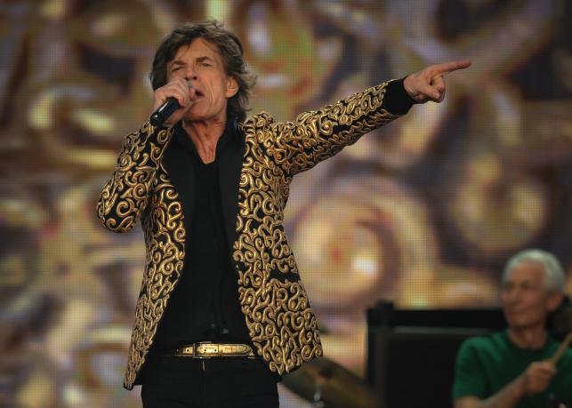 The Rolling Stones podczas koncertu w Hyde Parku