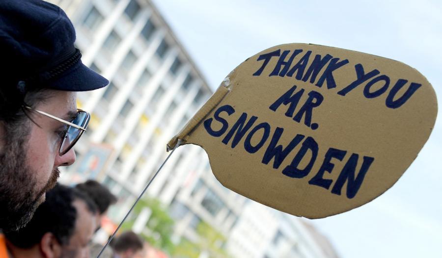 Demonstracja w obronie Edwarda Snowdena