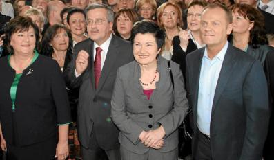 Bronisław Komorowski, Hanna Gronkiewicz-Waltz i Donald Tusk