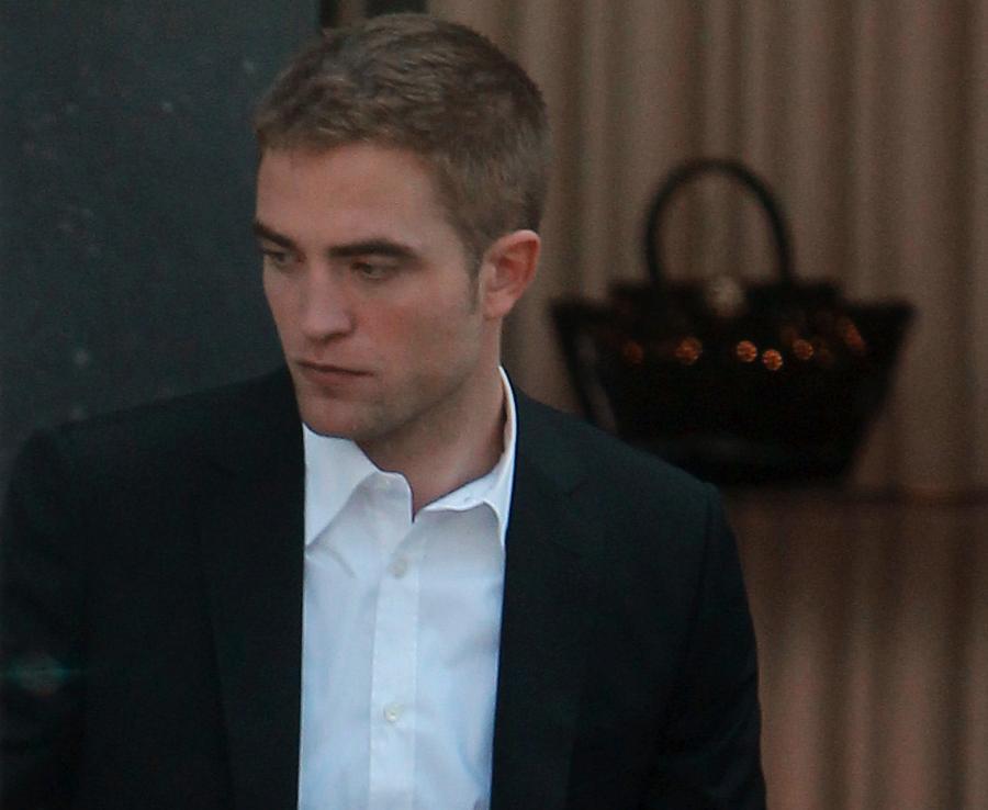 Robert Pattinson na planie \