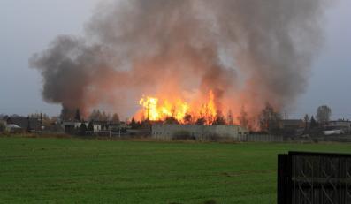 Pożar w Jankowie Przygodzkim