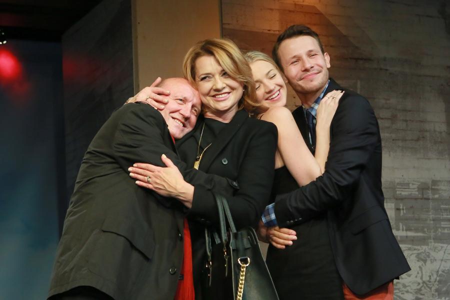 Artur Barciś, Małgorzata Ostrowska-Królikowska, Barbara Kudrej-Szatan i Mateusz Banasiuk