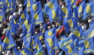 Flagi partii Swoboda, Ukraina