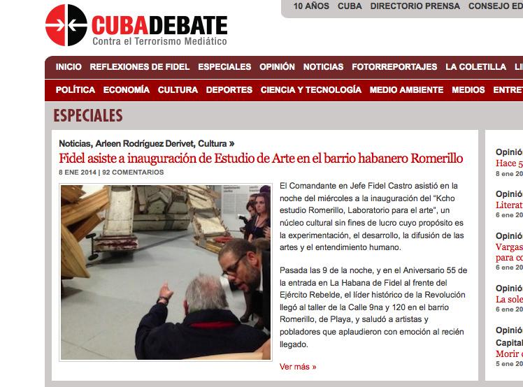 Fidel Castro (fot. www.cubadebate.cu)