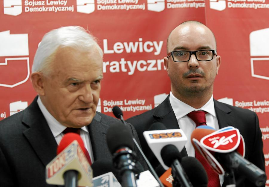 Lider SLD Leszek Miller i Sebastian Wierzbicki