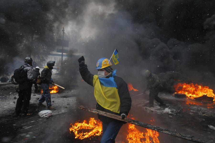 Starcia na Majdanie w Kijowie