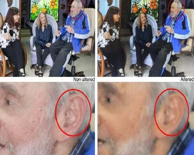 Zmanipulowane zdjecia Fidela Castro