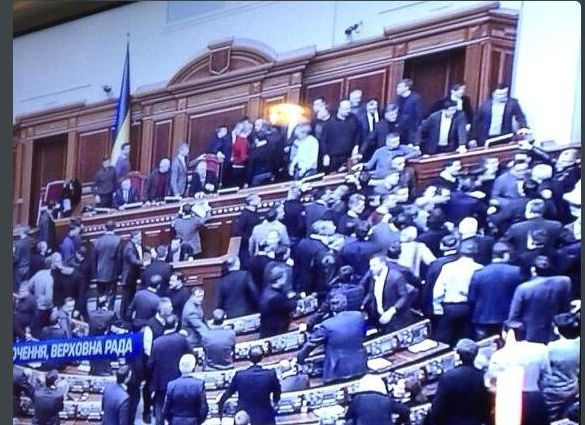 Poranne obrady w ukraińskim parlamencie