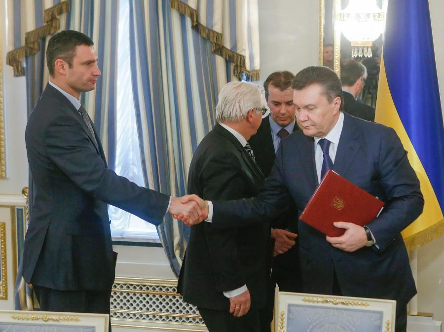 Witalij Kliczko i Wiktor Janukowycz