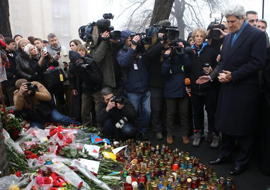 John Kerry w Kijowie