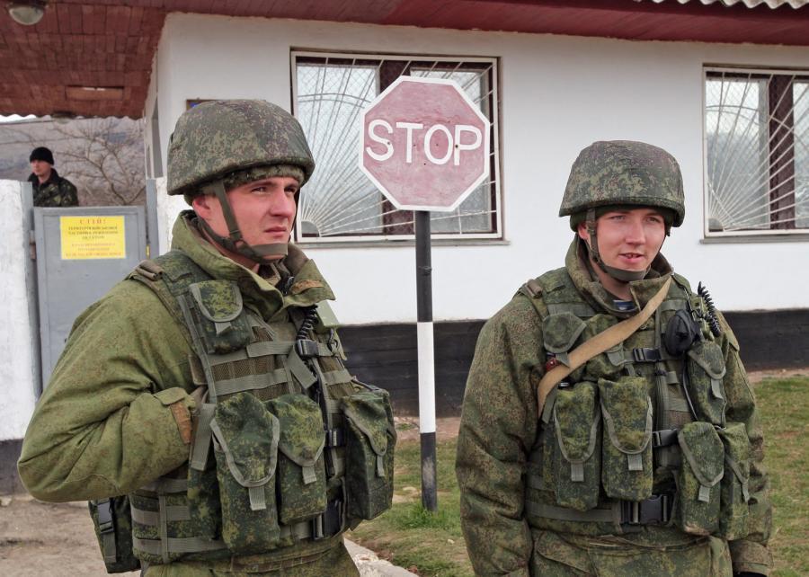 Wojskowa baza w Symferopolu