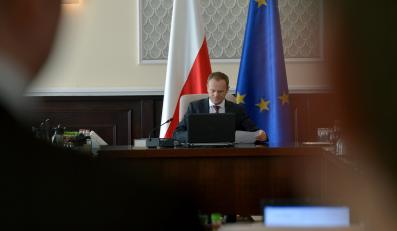 Donald Tusk podczas posiedzenia rządu
