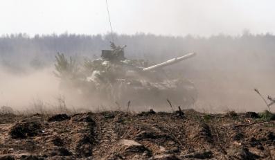 Manewry ukraińskiej armii na poligonie Gonczariwka, 120 km na północny wschód od Kijowa