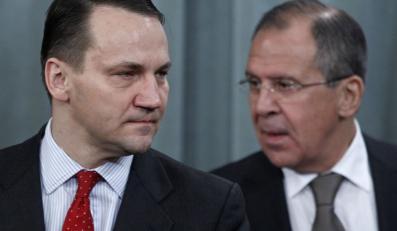 Szef polskiego MSZ Radosław Sikorski i Siergiej Ławrow, minister spraw zagranicznych Rosji