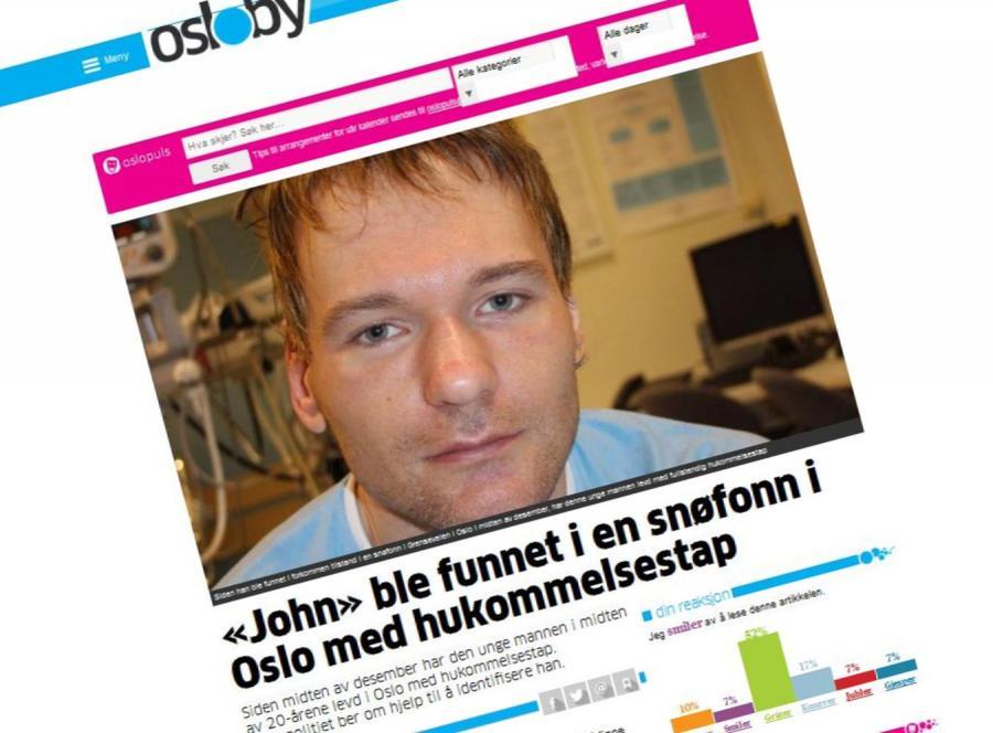 Tajemniczy mężczyzna znaleziony w Norwegii