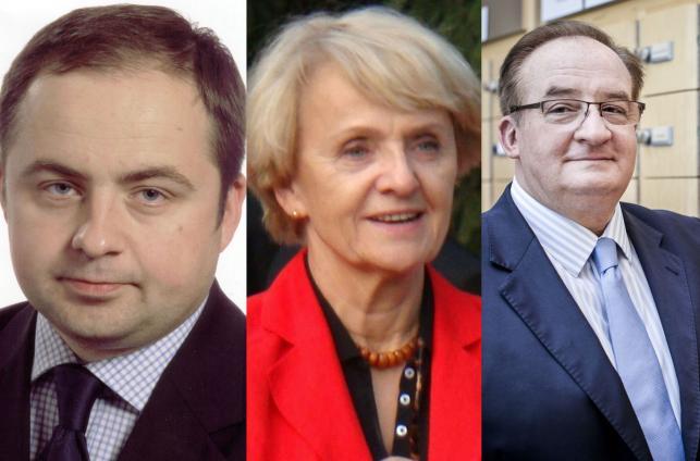 Konrad Szymański, Danuta Huebner i Jacek Saryusz-Wolski