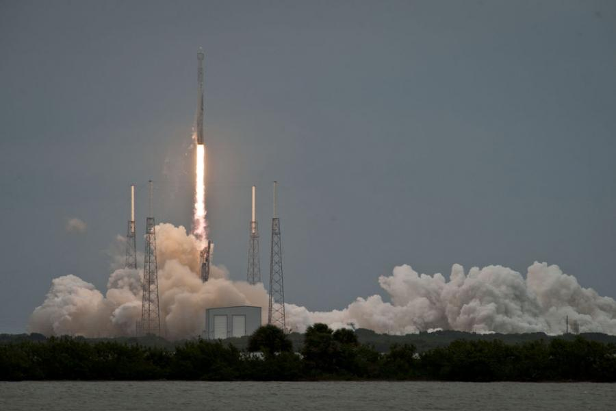 CRS-3 FALCON 9 LIFTOFF (Zdj. SpaceX)