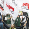Manifestacja górników w Katowicach