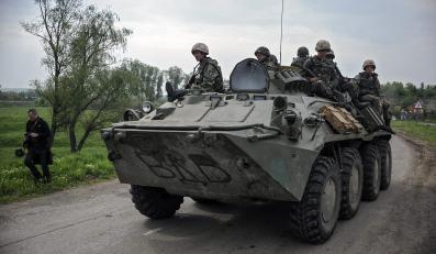 Ukraińscy żołnierze niedaleko Sławiańska