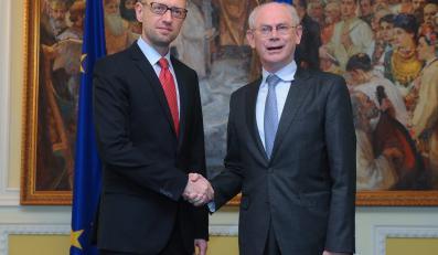 Arsenij Jaceniuk i Herman Van Rompuy