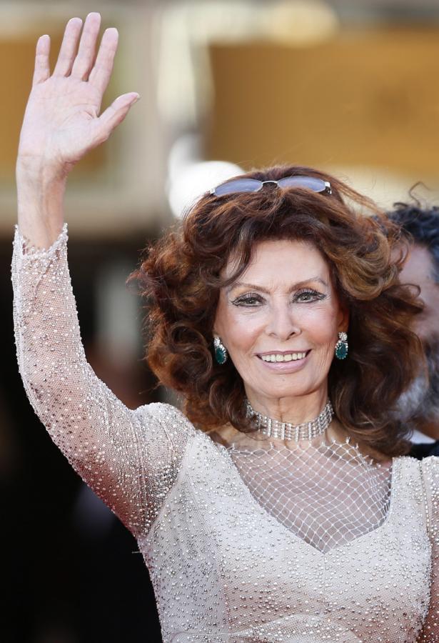 Sophia Loren na festiwalu w Cannes 2014