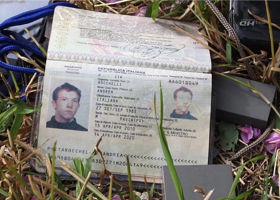 Paszport włoskiego dziennikarza zabitego pod Słowiańskiem