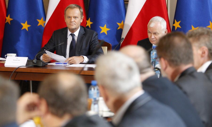 Premier Donald Tusk na spotkaniu z górniczymi związkowcami