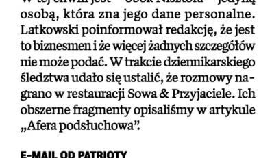 """Źródłem podsłuchów jest biznesmen - ujawnia Michał M. Lisiecki, wydawca tygodnika """"Wprost"""""""