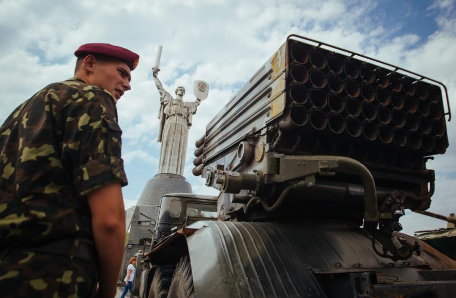 Sprzęt separatystów zdobyty przez ukraińską armię