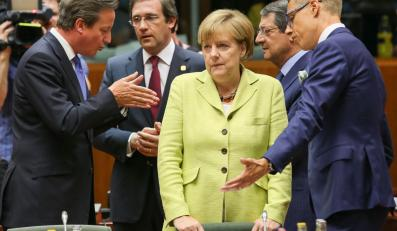 Europejscy przywódcy, w tym Angela Merkel, na szczycie Unii Europejskiej