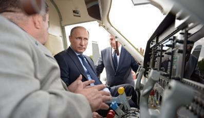 Władimir Putin w rosyjskim centrum kosmicznym
