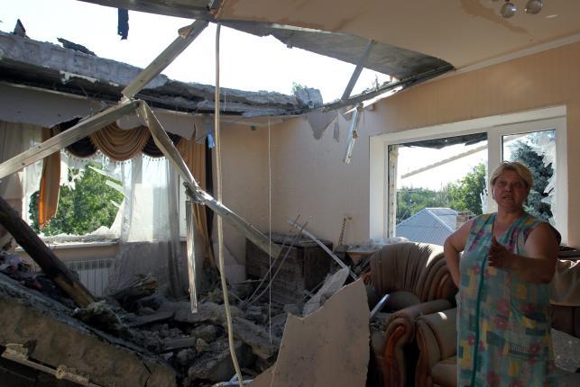 Zniszczona Gorłówka na Ukrainie